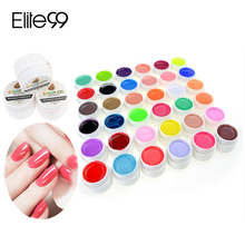 36 Colors Pure Color UV Nail Gel Polish Extension Professional Nail Gel Art Decorations Tools Manicure Nail Polish