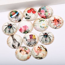 Buy onwear diy mixed handmade vintage little girl octupus flies flower photo jewelry glass cabochon 12mm 10mm 14mm 18mm 20mm 25mm for $3.67 in AliExpress store