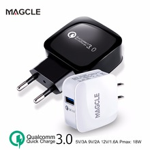Magcle QC3.0 charger wall charger EU/US fast charger 18W Fast USB Charger for Samsung Xiaomi 5 Huawei LG drop shipping