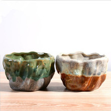 Hot Sale Succulent Plants Flower Pot Gaeden Decoration Flowerpots Ceramic Pot Saksi Planter Pots vasos para jardim Free Shipping