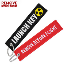 Remove Before Flight Key Ring Chaveiro Embroidery Keychain for Aviation Gifts Luggage Tag Key Fob Key Rings for Car Launch Key
