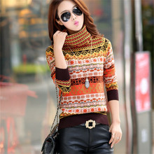 M-3XL Cashmere Turtleneck Striped Women Sweaters Korean Autumn Winter Fashion Pullover Tops  Long Sleeve Knitwear 62835