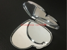 Brand new Blank HEART shaped MIRROR Compact Metal Makeup MIRROR, FITS IN POCKET
