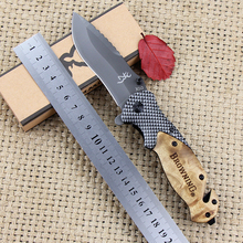 X50 DA43 DA45 Folding Knife Titanium coating Steel Blade Wood Handle Pocket Tactical Survival Knives Outdoor Hunting EDC Tools