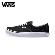 Original Vans Classic Lover's sport Shoes Men's&Women's Black and White Color Canvas Shoes Authentic Sneakers(China)