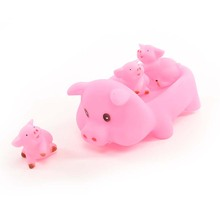 Lovely Animals Pink Pig Soft Rubber Float Squeeze Sound Bathing Play Toy for Baby(China)