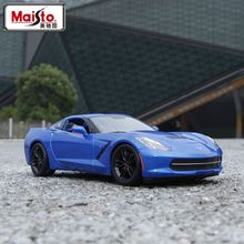 Maisto 1:18 Diecast Car Corvette C7 Z5 Alloy Car Model Toy Vehicle Models Kids Car Toys Collection gift