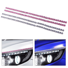 DWCX 2Pcs Car Lashes Headlight Eyelashes Accessories Cubic Crystal Eyeliner Stickers Accessories Cubic Crystal Eyeliner Sticker