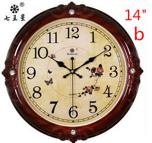 European sitting room wall clock, the fashion circle clocks and watches, creative electronic mute quartz clock.