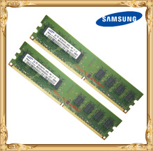Samsung Desktop memory 4GB 2x2GB 800MHz PC2-6400U DDR2 PC RAM 800 6400 4G 240-pin Free shipping(China)