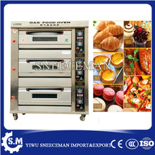 3 layers 6 trays gas bread deck oven bakery oven prices baking pizza machine