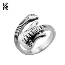 Thirteen Reasons Why ring antique silver violin vintage jewelry for Women Men Wedding Jewelry Top Quality Gift Can Dropshipping(China)