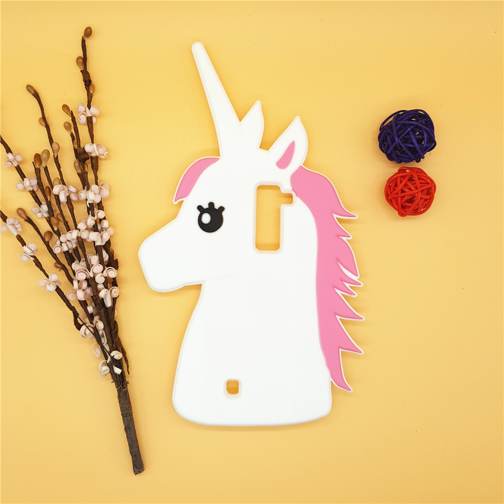 3D Cute Cartoon Unicorn Silicone Rubber Case Horse Cover LG K7 Lte K 7 & K8 K350 8 K10 K410g 10 Shell  -  International Fashion Goods Stores store