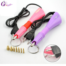 Purple / Pink Hotfix Rhinestone Applicator hot fix Applicator Iron-on Wand Heat-fix Tool(China)