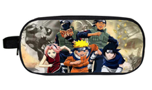 2017 Comic NARUTO Uchiha Sasuke Pencil Holder Kids Gift Bag Children Case Boys Girls School Cases Purse Wallet Gift