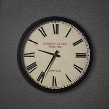 American retro round iron mute quartz clock watch living room wall decorations Nordic model soft outfit silent watch(China)