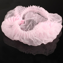 Wholesale 100PCS Disposable Hair Shower Cap Non Woven Pleated Anti Dust Hat Hotel Salon Supplies Set Blue/Pink/White(China)