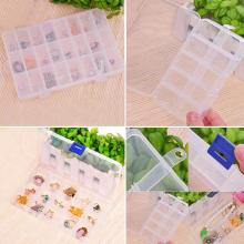 Plastic 24 Slots Compartment Jewelry Necklace big Storage Box Craft Organizer Container Beads Storage Jewelry Package Display(China)