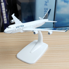 16cm US Boeing 747-400 United Airline Plane Model alloy model aviation model Aircraft Thailand Airplane Model Stand Craft 1:300(China)