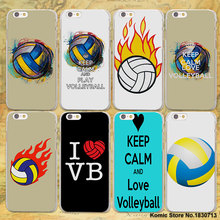keep calm and I LOVE play volleyball design hard clear Case Cover for Apple iPhone 7 7Plus 6 6s Plus SE 5 5s Phone Case(China)