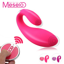 Buy Meselo Remote Control Vibrator Dual Head 10 Speeds Wireless USB Charge Erotic Products Vagina G-spot Vibrator Sex Toys Woman