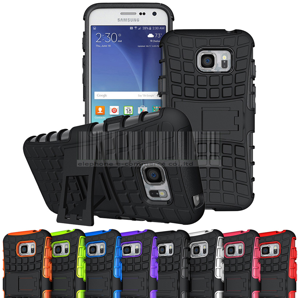 Rugged Heavy Duty Armor Hybrid Impact Case Kickstand Shockproof Case Cover Samsung Galaxy S7 Active G891