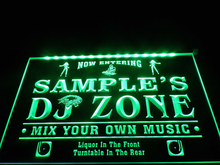 DZ038- Name Personalized Custom DJ Zone Music Turntable Disco Bar Beer Neon Sign hang sign home decor  crafts