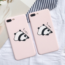 New Lovely Cute Sleeping Panda Animal For iPhone 7 Plus 5 5S 6 6S Plus Back Covers Hard Scrub Anti Shock Mobile Phone Cases