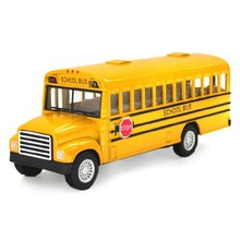 Brand New Classic School Bus Alloy Car Model Toy With Pull Back Car The Door Can Opened For Baby Toys Gifts Free Shipping(China)