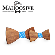 Mahoosive Wooden bow tie corbata boda corbatas ties for men kids necktie bowtie gravata casamento(China)