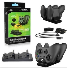 For Xbox One Dual Charging Dock Controllers Charger + 2 Rechargeable Batteries
