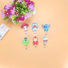 2017 foreign trade Cartoon animal Retractable Badge Reel Student Nurse Exihibiton ID Name Card Badge Holder Office Supplies(China)