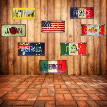 Mexico Italy France Car Metal Plate Vintage Home Decorative Country Tin Sign Bar Cafe Art Wall Decor Painting USA Plaque 30x15cm(China)