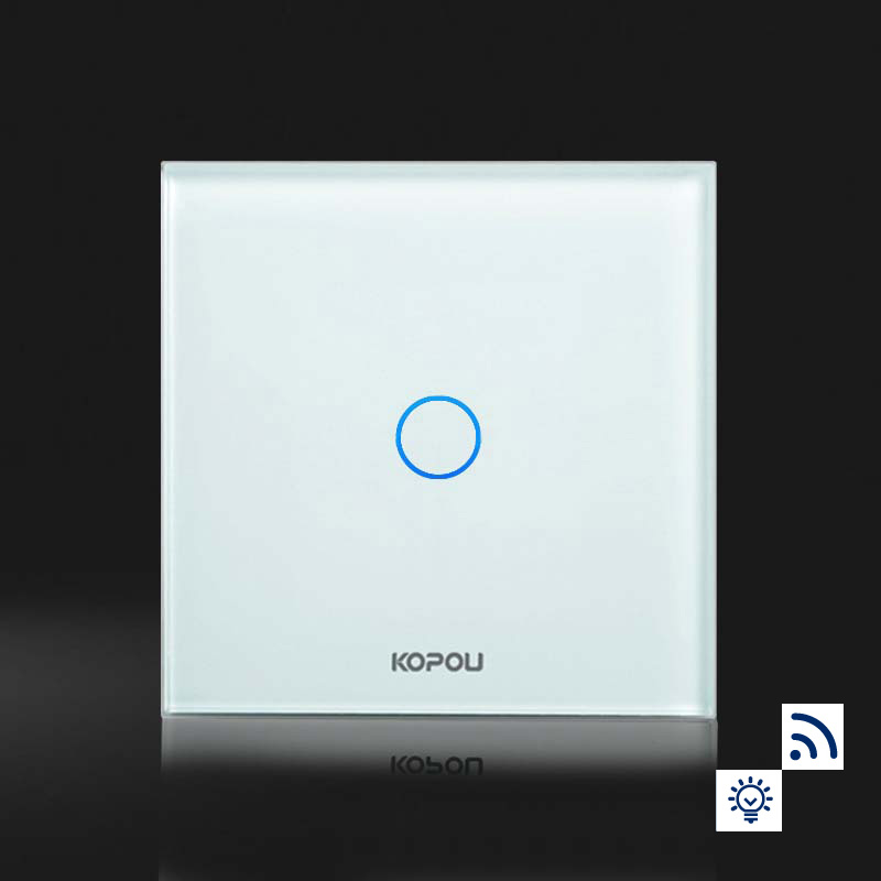 Touch Switch, EU Standard Dimmer&amp;remote Switch,1 Gang 1 Way,Wall Switch, Crystal Glass Panel,KT006EU.remote included<br>