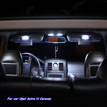 Car Parking City LED Interior Lights Kit in Xenon white for Opel Astra H Caravan, LED light bar Car Dome+Reading+Glove box+Trunk