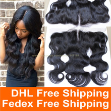 13x4 Lace Frontal Closure Bleached Knot 7A Full Frontal Body Wave Virgin Brazilian Human Hair Ear To Ear Top Lace Frontal Pieces
