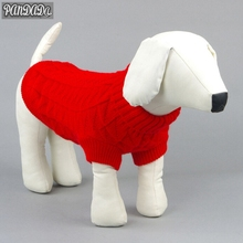 panDaDa Cute Pet Dog Clothes Sweater Knitted Warm Large Small Knitwear Outdoor Plain Color Puppy Coats Jumper