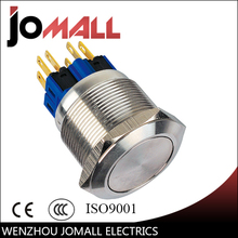 GQ25-11 25mm momentary LED light stainless steel push button switch with flat round(China)