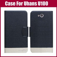 Uhans U100 Case 5 Colors Flip Leather Exclusive Phone Cover - Karoch Trading Store store