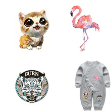 Colife Small Patch Cartoon Animals Iron On Patches For Children Kids Clothes Heat Transfer Ironing Stickers A-level Washable