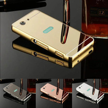 Buy Sony Z1 Compact Case Luxury Mirror Aluminum Bumper Acrylic Metal Back Cover Sony Xperia Z1 Compact D5503 Z1 MINI Fundas for $3.94 in AliExpress store