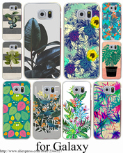 Botanical Blues ligth Hard Transparent Case Cover for Samsung Galaxy S3 S4 S5 Mini S6 S7 S8 Edge Plus Case