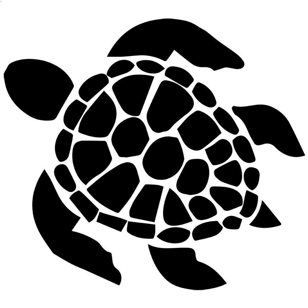 Cute turtle silhouette