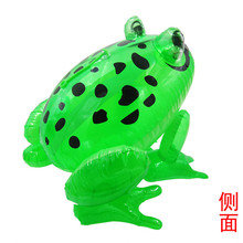 1Pcs Inflatable Frog with Light Line Toys PVC Inflatable Animal Balloons Classic Blow Up Toys Annual Events Game Toys 5ZHH018(China)