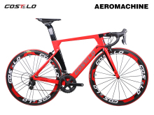 New Technology Costelo Aeromachine monocoque one piece mould road bicycle carbon bike complete bicycle completo bicicletta(China)