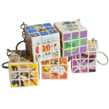 Mini Magic Cubes Stress Cube Keychain Cute Carton Toys Polymorph Key ring Portable Random Color