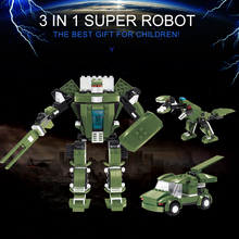 21Forest Blocks 3 1 Deformation Robot Model Building Sets Assembly Children Educational Toys Gift - KingToys Store store