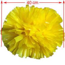 Yellow cheerleading pompoms (2pieces/lot) 40CM Cheers pompon with middle plastic handle Color can free combination(China)