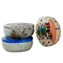 Multi Functional Retro Round Iron Tin Small Storage Boxes & Bins Jewelry Coin Earphone Box Candy Pill Case Organizer Random Send