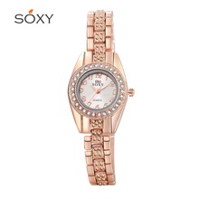 The new high-grade steel jewelry watches female form Rhinestone watches, luxury quartz inlay fashion female form